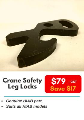 Crane Safety Leg Locks - HIAB