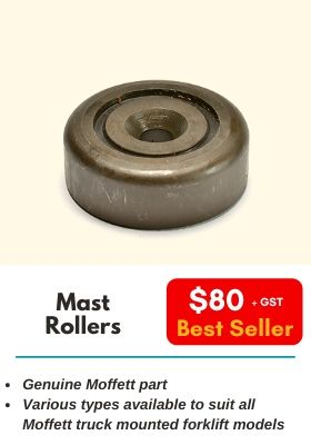 Mast Rollers. Various types available to suit all Moffett truck mounted forklift models.