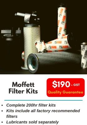 Moffett Filter Kits. Complete 200hr filter kits. Kits include all factory recommended filters. Lubricants sold separately.