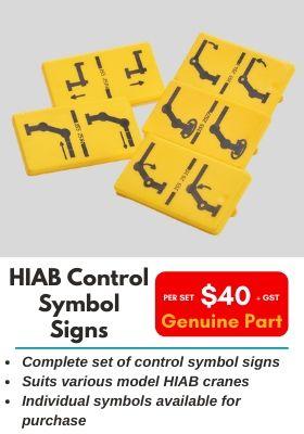 HIAB Control Symbol Signs