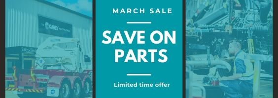 Carey Quick Parts March Sale - Moffett, Steelbro, HIAB parts available