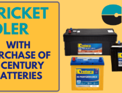 Free Cricket Cooler with Purchase of Three Century Batteries