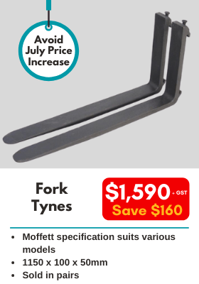 Fork Tynes - genuine HIAB part