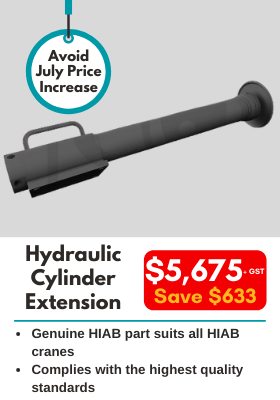 Hydraulic Cylinder Extension - genuine HIAB part