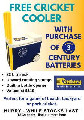 Century Batteries Free Cricket Cooler Promotional Offer