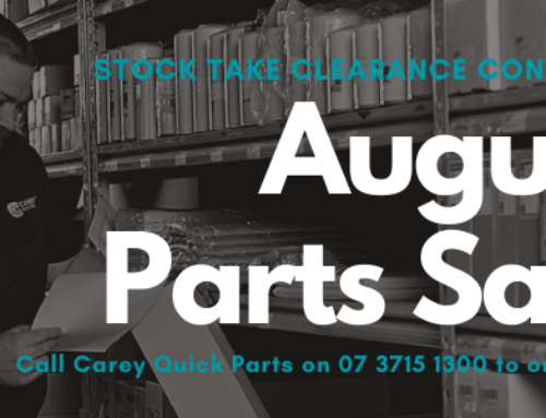 August Parts Sale now on!