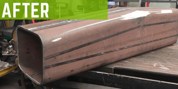 Steel fabrication repair - after repair