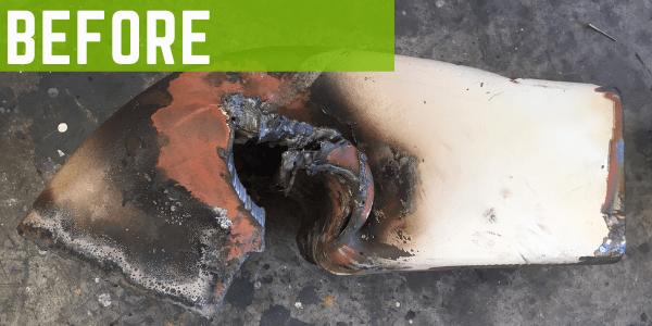 Steel fabrication repair Hook Lift before damage