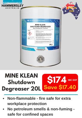 Hammersley Mine Klean Shutdown Degreaser 20L