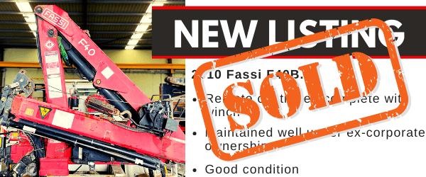 Sold Fassi Vehicle Loading Crane